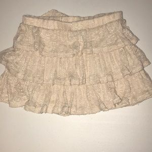 Wet seal ruffled knit skirt